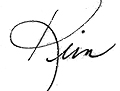 Commissioner Kim McCoy signature